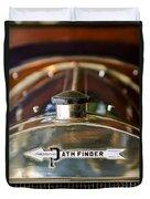 1913 Pathfinder 5-passenger Touring Hood Ornament Duvet Cover