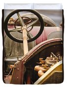 1914 Mercer Model 35 J Raceabout Engine And Steering Wheel Duvet Cover