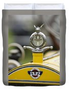 1914 Stutz Series E Bearcat Hood Ornament Duvet Cover