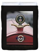 1916 Stutz Series B Bearcat Hood Ornament Duvet Cover