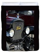 1925 Ford Model T Coupe Grille Duvet Cover