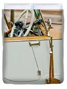 1925 Rolls-royce Phantom I Barker Sports Torpedo Tourer Steering Wheel Duvet Cover