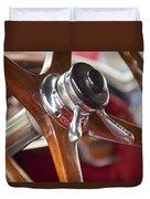 1925 Stutz 695 Speedway Sportster Steering Wheel Duvet Cover