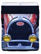 1927 Bugatti Replica Grille Headlights Duvet Cover