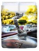 1928 Hudson Super Six Roadster Hood Ornament Duvet Cover