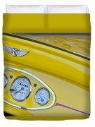1929 Ford Model A Roadster Dashboard Instruments Duvet Cover