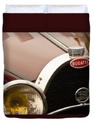 1931 Bugatti Type 55 Roadster Grille Emblem Duvet Cover