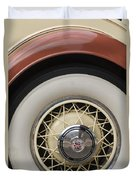 1931 Cadillac Roadster Wheel Duvet Cover