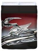1931 Chrysler Cg Imperial Roadster Hood Ornament Duvet Cover