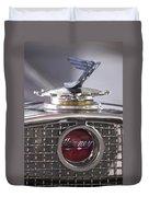 1931 Henney 2-passenger Convertible Hood Ornament Duvet Cover