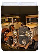 1931 La Salle Series 345r And 1929 Packard Roadster Duvet Cover