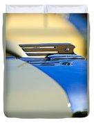 1931 Marmon Sixteen Convertible Coupe Hood Ornament Duvet Cover