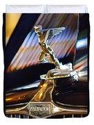 1932 Auburn V-12 Speedster Hood Ornament Duvet Cover