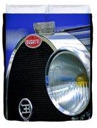 1932 Bugatti Type 55 Cabriolet Grille Emblem Duvet Cover