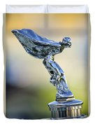 1932 Rolls-royce Phantom II Sedanca De Ville Hood Ornament Duvet Cover