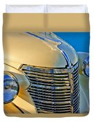 1933 Chevrolet Grille And Headlights Duvet Cover
