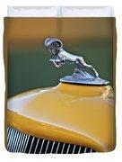 1933 Dodge Ram Hood Ornament Duvet Cover