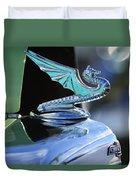 1934 Aftermarket Chevrolet Hood Ornament Duvet Cover