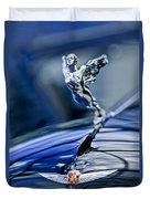 1934 Cadillac V-16 452 Two-passenger Stationary Coupe Hood Ornament And Emblem Duvet Cover