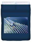 1934 Chrysler Airflow Hood Ornament Duvet Cover