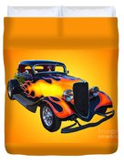 1934 Ford 3 Window Coupe Hotrod Duvet Cover