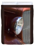1934 Ford Headlight And Grill Duvet Cover
