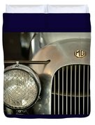 1934 Mg Pa Midget Supercharged Special Speedster Grille Duvet Cover