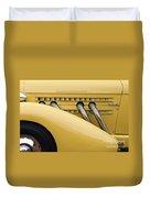 1935 Auburn 851 Sc Speedster Detail - D008160 Duvet Cover