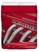 1935 Auburn Side Pipes Duvet Cover