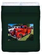 1935 Dodge Firetruck Duvet Cover
