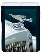 1935 Packard Sedan Hood Ornament Duvet Cover