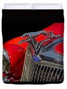 1936 Ford Model 48 Emblem Duvet Cover