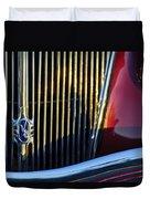 1936 Ford Phaeton V8 Grille Emblem Duvet Cover