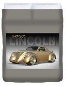 1937 Lincoln Zephyr Duvet Cover