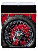1938 Mg Ta Spare Tire Duvet Cover