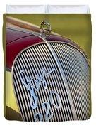 1938 Steyr 220 Glaser Roadster Grille Emblem Duvet Cover