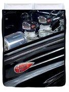 1939 Lincoln Zephyr Engine Duvet Cover