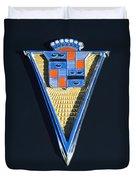 1940 Cadillac Emblem Duvet Cover