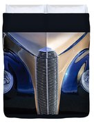 1940 Cadillac Lasalle Convertible Grille Duvet Cover