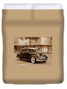 1940 Chevrolet Special Deluxe - Sepia Duvet Cover