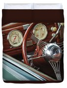 1940 Chevrolet Steering Wheel Duvet Cover