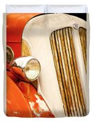 1940's Seagrave Fire Engine Duvet Cover