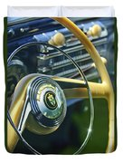 1942 Lincoln Continental Cabriolet Steering Wheel Emblem Duvet Cover