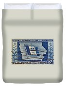1946 Iowa Statehood Stamp Duvet Cover