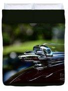 1947 Chevrolet Hood Ornament Duvet Cover