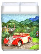 1948 Alvis English Countryside Duvet Cover
