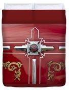 1948 American Lefrance Fire Truck Emblem Duvet Cover