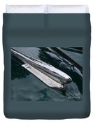 1948 Chevy Coupe Hood Ornament Duvet Cover