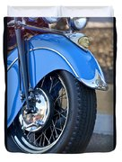 1948 Indian Chief Motorcycle Wheel Duvet Cover