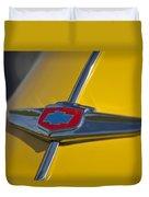 1949 Chevrolet Sedan Hood Emblem Duvet Cover